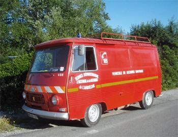 Véhicule de secours routier, Sapeurs-pompiers, Ardèche