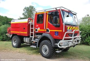 Camion-citerne pour feux de forêts, Sapeurs-pompiers, Loiret