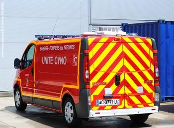 Véhicule pour interventions cynotechniques, Sapeurs-pompiers, Yvelines (78)