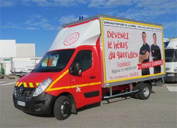 Véhicule de logistique, Sapeurs-pompiers, Drôme (26)