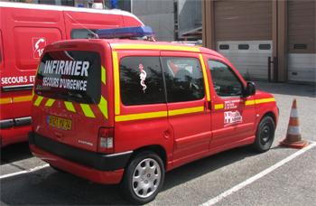 Véhicule de secours médical, Sapeurs-pompiers, Haute-Savoie (74)