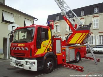 Echelle pivotante, Sapeurs-pompiers, Haute-Vienne