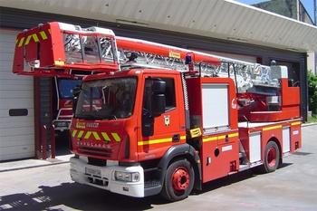 Echelle pivotante, Sapeurs-pompiers, Hérault (34)