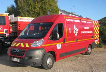 Véhicule pour interventions cynotechniques, Sapeurs-pompiers, Cher (18)