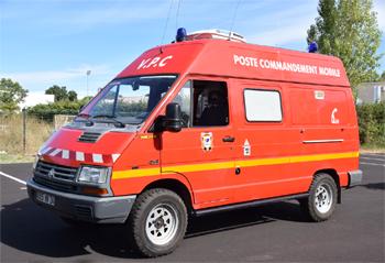 Véhicule poste de commandement, Sapeurs-pompiers, Hérault