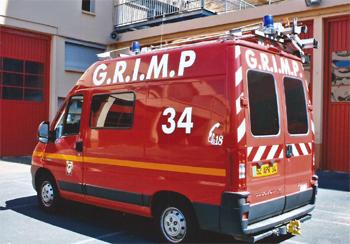 Véhicule GRIMP, Sapeurs-pompiers, Hérault