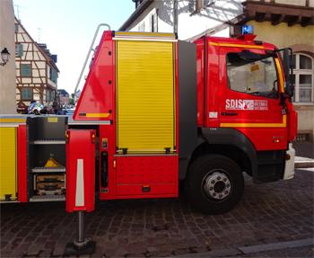 Echelle pivotante, Sapeurs-pompiers, Haut-Rhin