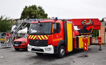 Echelle pivotante, Sapeurs-pompiers, Gard (30)