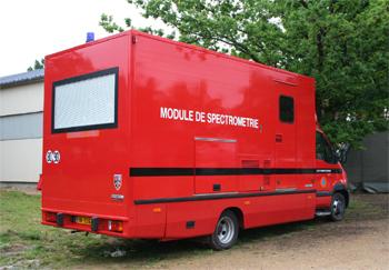 Module de spectrométrie, Formations militaires de la Sécurité civile, Eure-et-Loir (28)