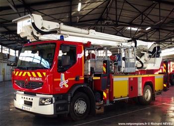 Camion bras élévateur articulé, Sapeurs-pompiers, Drôme (26)