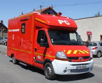 Véhicule poste de commandement, Sapeurs-pompiers, Pas-de-Calais (62)