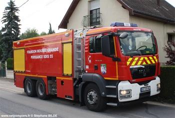 Véhicule mousse, Sapeurs-pompiers, Meuse
