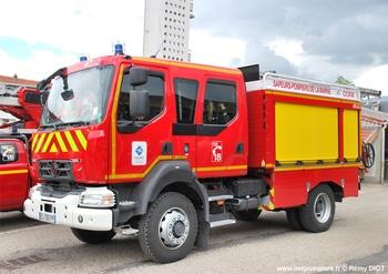 #9870 - Camion-citerne rural Gallin, châssis Renault D 15, sapeurs-pompiers, Romigny, Marne (51)