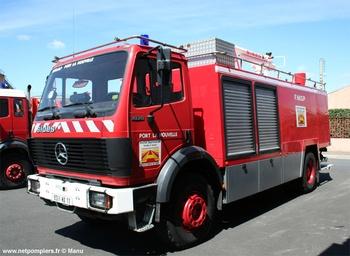 Véhicule mousse, Sapeurs-pompiers, Aude