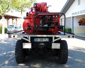 Camion-citerne pour feux de forêts, Sapeurs-pompiers, Landes (40)