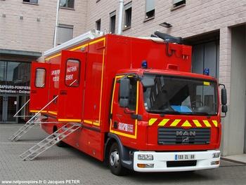 Véhicule poste de commandement, Sapeurs-pompiers, Haut-Rhin (68)