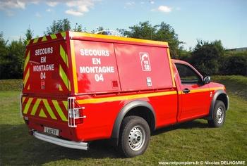 Véhicule de secours en montagne, Sapeurs-pompiers, Alpes-de-Haute-Provence (04)