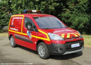Véhicule radio médicalisé, Sapeurs-pompiers, Allier