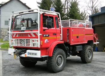 Camion-citerne pour feux de forêts, Sapeurs-pompiers, Pyrénées-Atlantiques