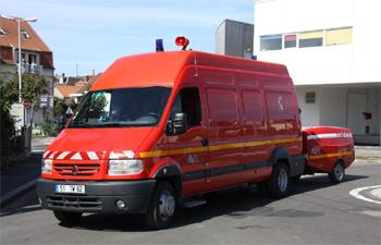 Dévidoir automobile, Sapeurs-pompiers, Pas-de-Calais
