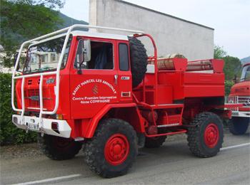 Camion-citerne pour feux de forêts, Sapeurs-pompiers, Ardèche (07)