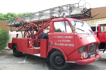 Echelle sur porteur, Sapeurs-pompiers, Ardèche (07)