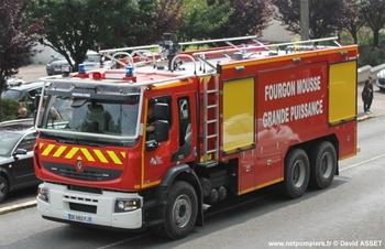 Véhicule mousse, Sapeurs-pompiers, Pas-de-Calais