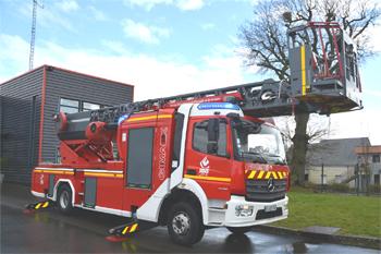 Echelle pivotante, Sapeurs-pompiers, Orne (61)