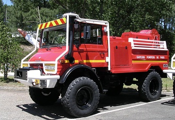 Camion-citerne pour feux de forêts, Service de sécurité incendie, Landes (40)