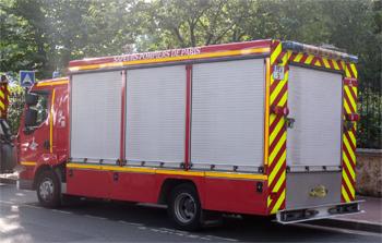 Véhicule de protection, éclairage et ventilation, Sapeurs-pompiers de Paris,  ()