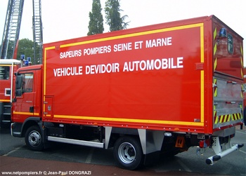 Dévidoir automobile, Sapeurs-pompiers, Seine-et-Marne (77)