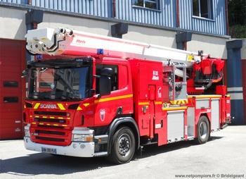 Camion bras élévateur articulé, Sapeurs-pompiers, Manche (50)