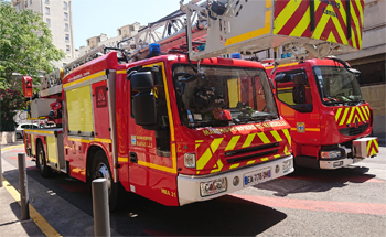 Echelle pivotante, Marins-pompiers de Marseille, Bouches-du-Rhône