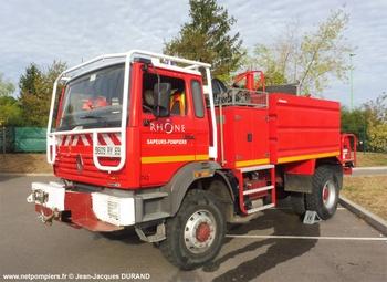 Camion-citerne d'incendie, Sapeurs-pompiers, Rhône (69)