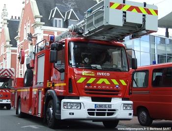 Echelle pivotante, Sapeurs-pompiers, Pas-de-Calais (62)