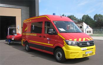 Véhicule de secours nautique, Sapeurs-pompiers, Saône-et-Loire (71)