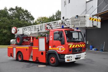 Echelle pivotante, Sapeurs-pompiers, Finistère (29)