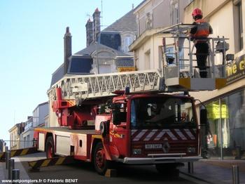 Echelle pivotante, Sapeurs-pompiers, Vendée