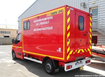 Véhicule de secours nautique, Sapeurs-pompiers, Hérault (34)