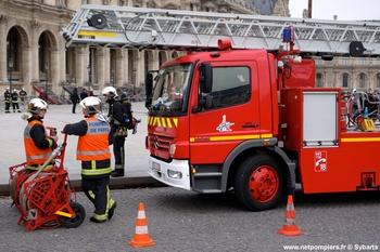 Echelle pivotante, Sapeurs-pompiers,  ()
