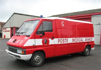 Véhicule poste médical avancé, Sapeurs-pompiers, Allier