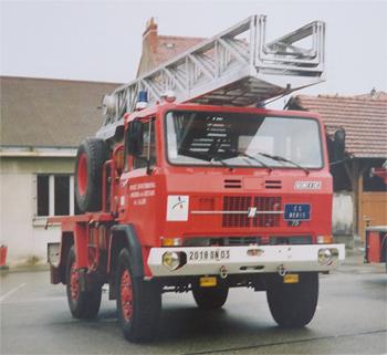 Echelle pivotante, Sapeurs-pompiers, Allier