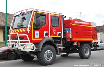 Camion-citerne pour feux de forêts, Sapeurs-pompiers, Marne