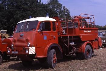 Véhicule mousse, Sapeurs-pompiers, Indre