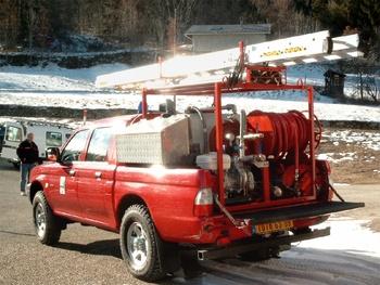 Camion-citerne pour feux de forêts léger, Sapeurs-pompiers, Ariège