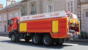Camion-citerne de grande capacité, Sapeurs-pompiers, Loiret