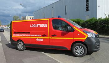 Véhicule de logistique sanitaire, Sapeurs-pompiers, Guyane (973)