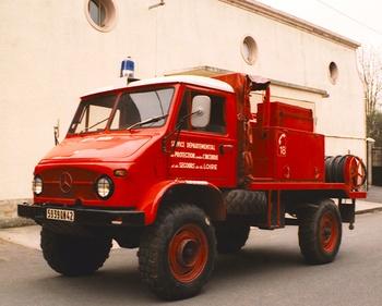 Camion-citerne pour feux de forêts, Sapeurs-pompiers, Loire (42)
