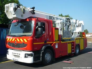 Camion bras élévateur articulé, Sapeurs-pompiers, Vendée