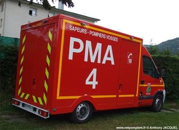 Véhicule poste médical avancé, Sapeurs-pompiers, Vosges (88)